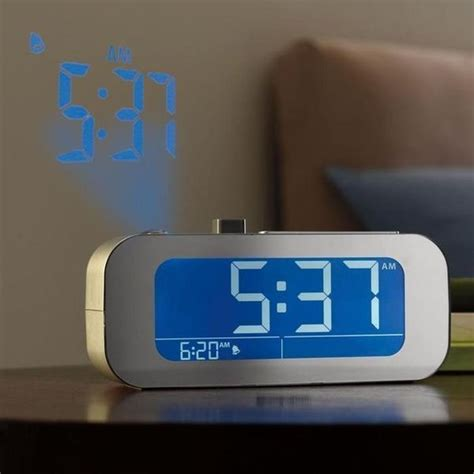 Alarm Clock Projects Time On Ceiling time projecting alarm clocks self setting projection clock