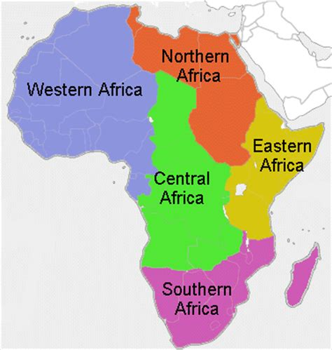 africa map in color color map and africa