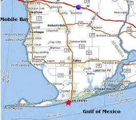 map of gulf shores alabama world map 07