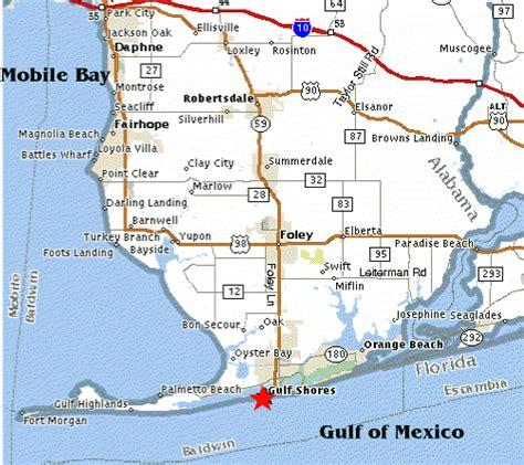 map of gulf coast map of gulf shores kelloggrealtyinc