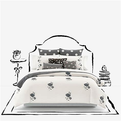 kate spade bed bath and beyond kate spade new york lacey daisy duvet cover in white