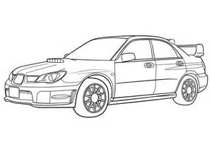 Subaru Drawing How To Draw Subaru Car