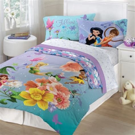 Disney Tinkerbell Fairies Fantasy Floral Twin Full Disney Fairies Bedding Set