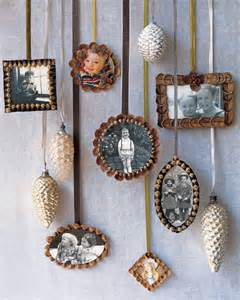 picture frame ornaments pinecone picture frame ornaments martha stewart