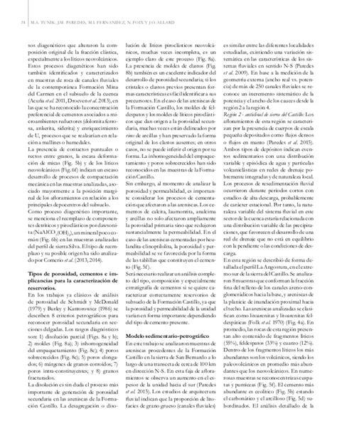 La Roca Tunik analisis petrografico de fomacion castillo argentina