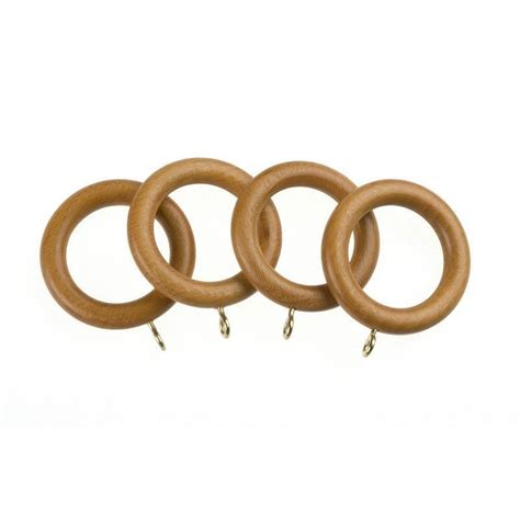 pine curtain rings swish avensys 28mm antique pine wood curtain rings 4 pack
