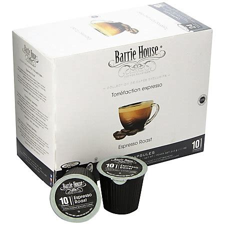 barrie house coffee barrie house coffee k cup pods espresso roast box of 24 by office depot officemax