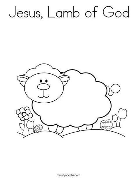 coloring page of jesus and sheep jesus lamb of god coloring page twisty noodle crafts