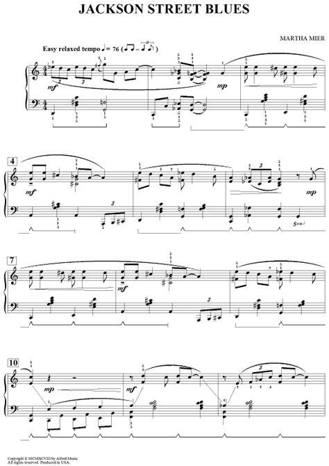 jackson blues sheet for piano and more onlinesheetmusic