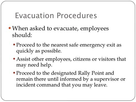Fire Evacuation Floor Plan by Citywide Emergency Action Plan Amp Response Trng Dept Template