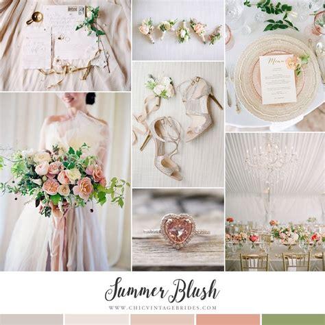 april wedding colors 2017 summer blush glamorous elegant wedding inspiration in shades of blush chic vintage brides