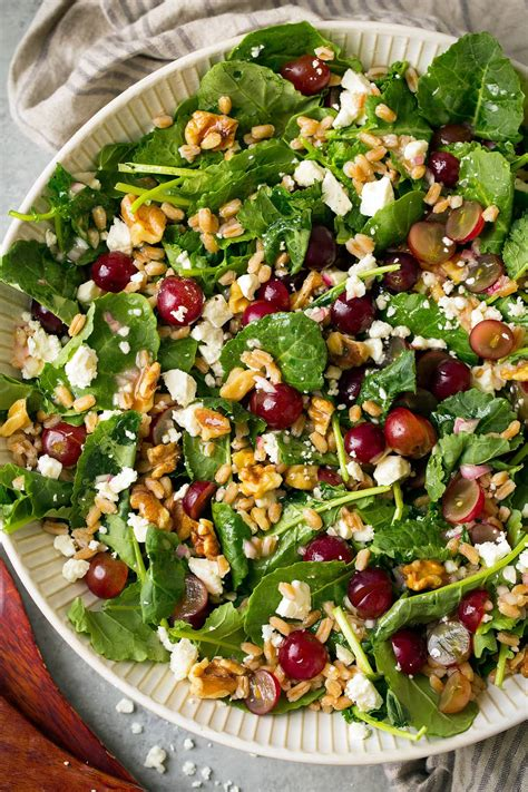 Detox Farro Salad Home Chef by Kale Grape And Farro Salad With Feta And White Wine