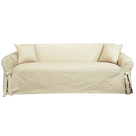 sure fit cotton duck sofa slipcover natural sure fit cotton duck sofa slipcover 100 cotton solid