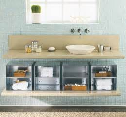 modern the sink bathroom storage