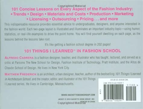 libro everything i learned about libro 101 things i learned in fashion di alfredo cabrera matthew frederick