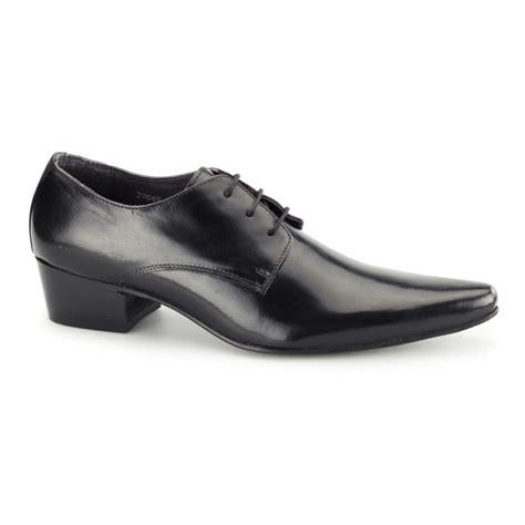 gucinari mens cuban heel pointed leather shoes black buy