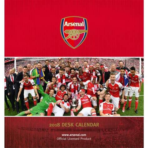 arsenal calendar arsenal f c desktop calendar 2018 for only c 12 41 at
