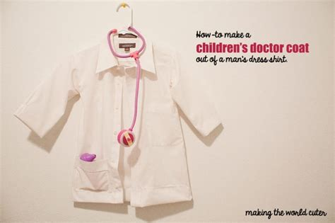 pattern for childrens lab coat diy children s doctor costume