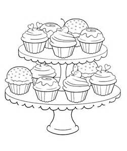 cupcakes coloring pages cupcake coloring page coloring home