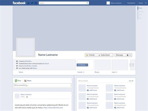 free themes facebook profile free vector facebook profile timeline by tatchies