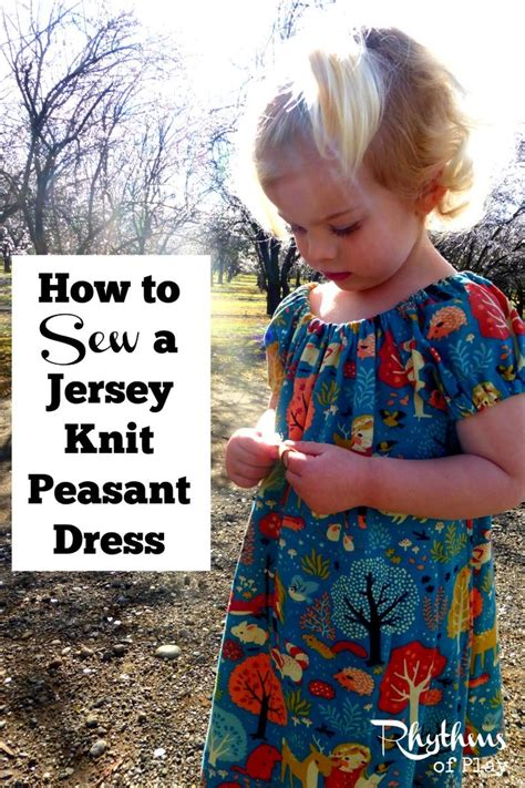 how to sew with jersey knit how to sew a jersey knit peasant dress couture enfant