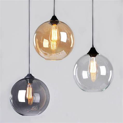 Glass Globe Ceiling Light Modern Vintage Pendant Ceiling Light Glass Globe Lshade Fitting Cafe 4 Color Ceiling Canopy