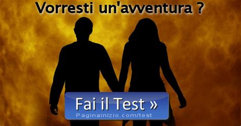 pagina inizio test test siete pronti per un avventura amorosa