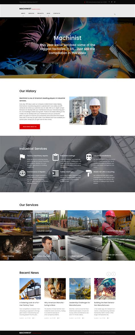 industrial templates archives zemez wordpress