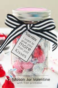 Valentine mason jar gift idea all you need is a bag of kisses