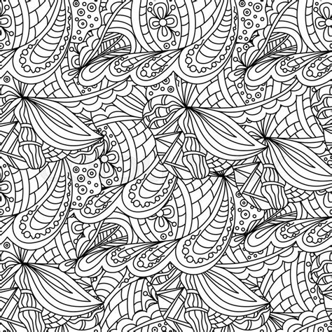 coloring pages for adults wallpaper seamless black and white doodle pattern background
