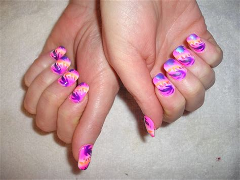 Airbrush Nails by Pink Abstract Airbrush Nail Gallery