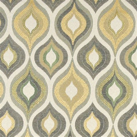 contemporary home decor fabric gold blue and green bright contemporary upholstery
