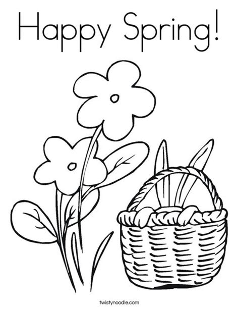 happy flower coloring page happy spring coloring page twisty noodle