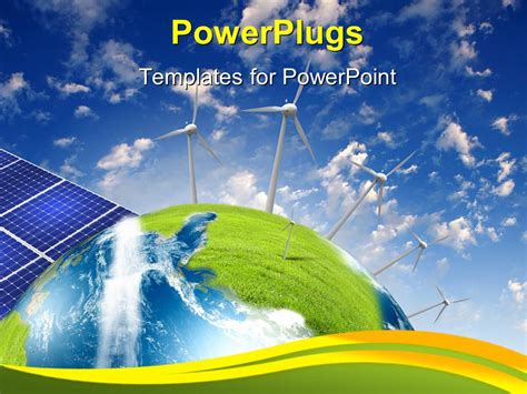 powerpoint template alternative energy source with solar