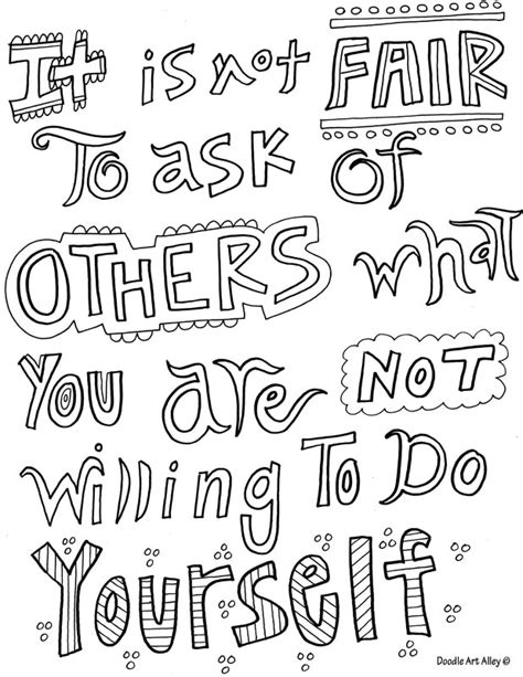 doodle with others motivational quote coloring pages doodle alley