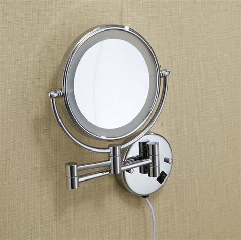 wall mounted bathroom makeup mirror solid brass 8 inches magnifying hot bathroom chrome wall mounted 8 inch brass 3x 1x