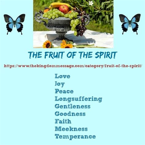 3 fruits of the holy spirit what are the nine different fruits of the holy spirit quora