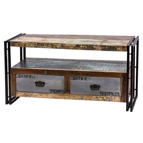 mobile in ferro mobile tv legno e ferro mobili etnici vintage industrial