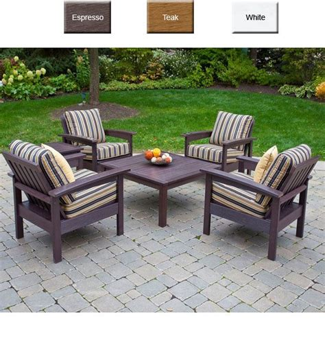 poly resin patio furniture eon 174 outdoor poly furniture eon poly resin banff seating 6 conversation set