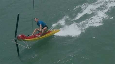 catamaran kite sailing kite scooter a small fast kite sailing boat youtube