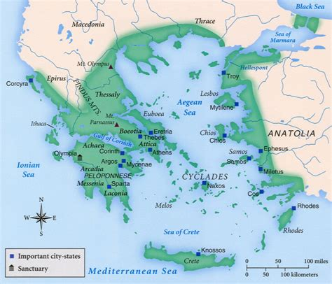 map of archaic greece 103 a brief history of early and pre classical greece