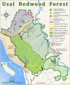 redwoods in california map 2013 annual update redwood forest foundation