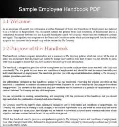 Template For Handbook by Employee Handbook Templates Free Word Document