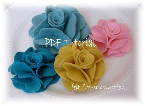 felt pattern tutorial felt flower tutorial wool felt flower by feltflowercollection