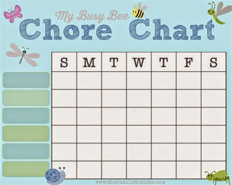free chore chart template 9 best images of my chore chart printable dogs free