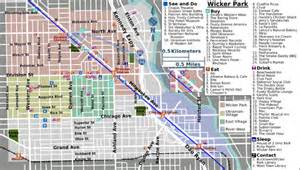 Wicker Park Chicago Map by Wicker Park Chicago Map