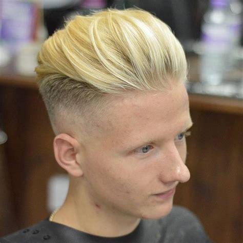 platinum blonde hair guys top bangs 25 spectacular edgy haircut ideas for men clean classy