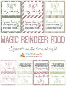 Free printable reindeer food tags car interior design