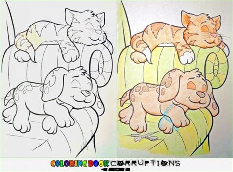 coloring book corruptions corrupted coloring book pages neatorama