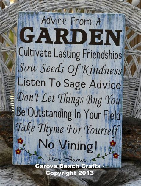 Garden Signs And Decor Advice From A Garden Outdoor Decor Garden Sign Flowers Nature Yard Porch Decoration